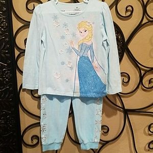 Disney Frozen Girls Shirt and Pants Set.